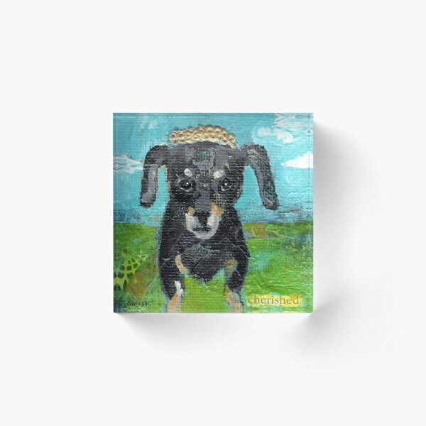 Cherish the Dachshund Acrylic Block