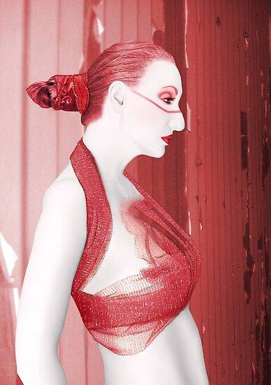 The Red Stripe - Self Portrait by Jaeda DeWalt