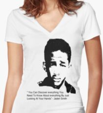 Jaden Smith quote #1 Women's Fitted V-Neck T-Shirt