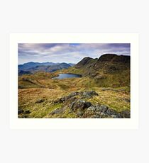 The Langdale Pikes - Cumbrian Lake District Art Print