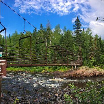 Tettegouche State Park in Minnesota, Bridge over Baptism River by gorff
