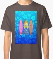 Born To Surf Blue Honu Classic T-Shirt