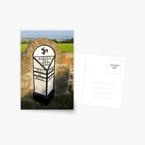 Manx road sign Postcard