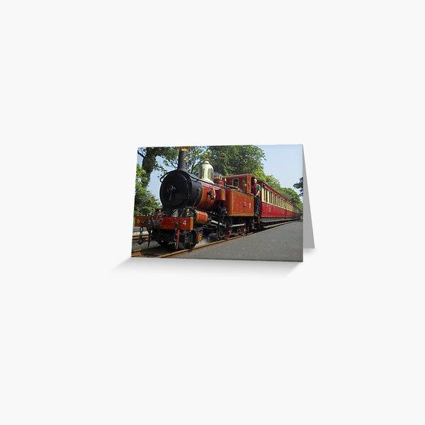 Manx train Greeting Card