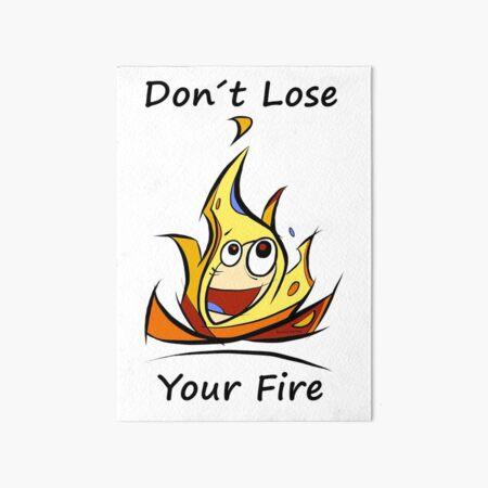Fire Art Board Print