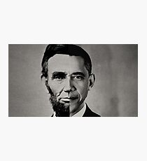 President Obama Meets President Lincoln Photographic Print