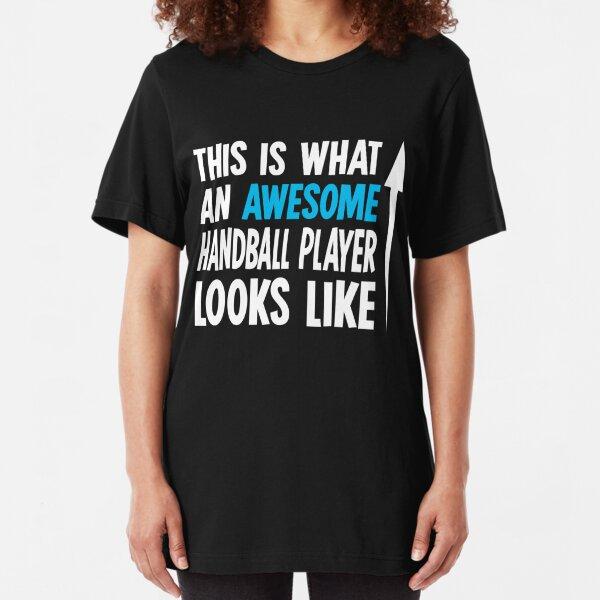 HANDBALL PLAYER MUM LIKE A REGULAR MUM BUT COOLER BLACK T SHIRT