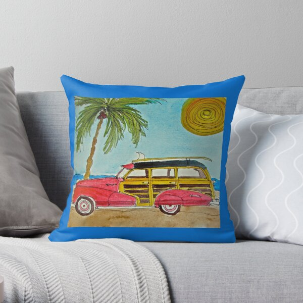 WOODY PALM Throw Pillow