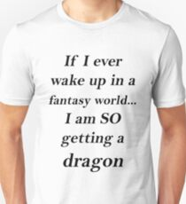 Fantasy Dragon Black T-Shirt