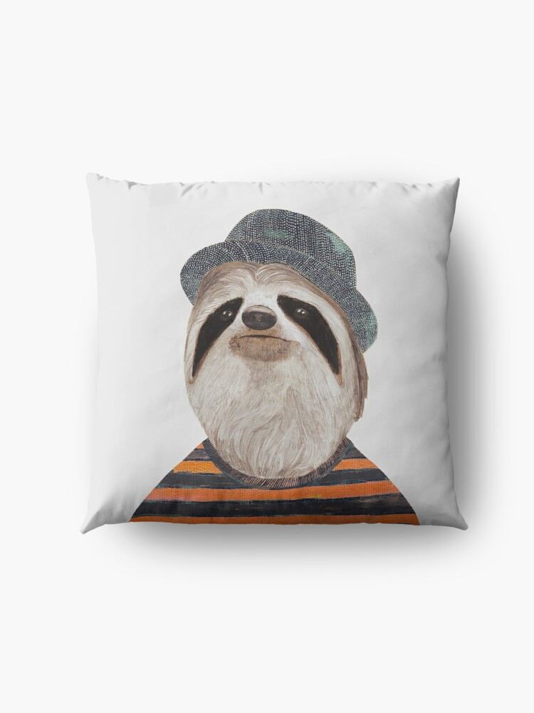 Alternate view of Sloth Floor Pillow