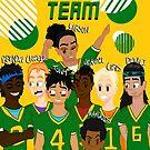 Football Players - Grunge by CrossXComix