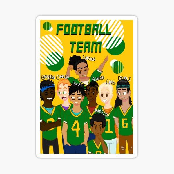 Football Players - Grunge Sticker