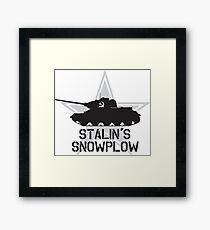 Stalin's Snowplow Framed Print