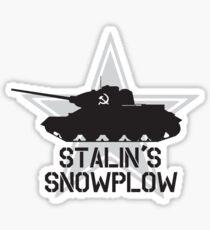 Stalin's Snowplow Sticker