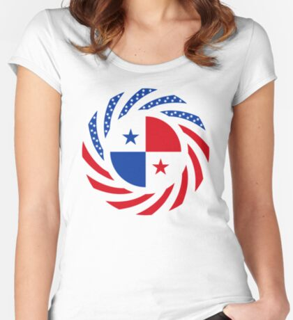 Panamanian American Multinational Patriot Flag Series Fitted Scoop T-Shirt