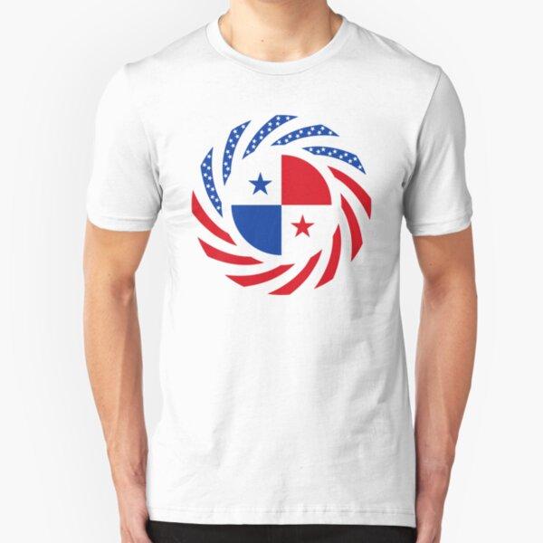 Panamanian American Multinational Patriot Flag Series Slim Fit T-Shirt