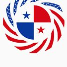 Panamanian American Multinational Patriot Flag Series by Carbon-Fibre Media