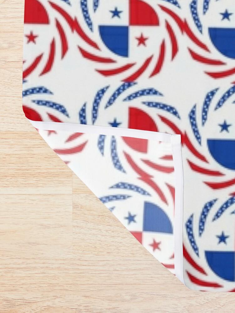 Alternate view of Panamanian American Multinational Patriot Flag Series Shower Curtain
