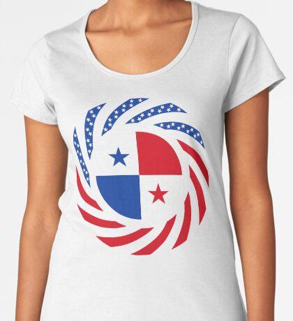 Panamanian American Multinational Patriot Flag Series Premium Scoop T-Shirt