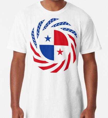 Panamanian American Multinational Patriot Flag Series Long T-Shirt