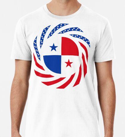 Panamanian American Multinational Patriot Flag Series Premium T-Shirt