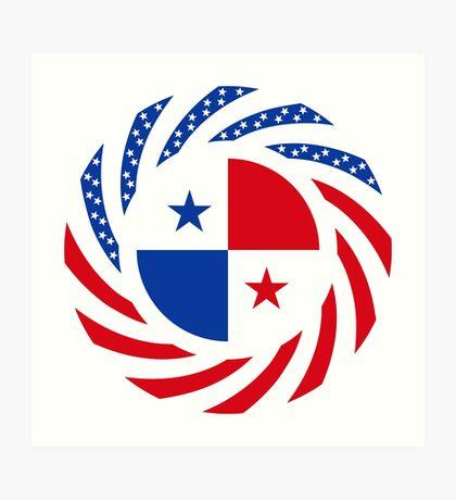 Panamanian American Multinational Patriot Flag Series Art Print
