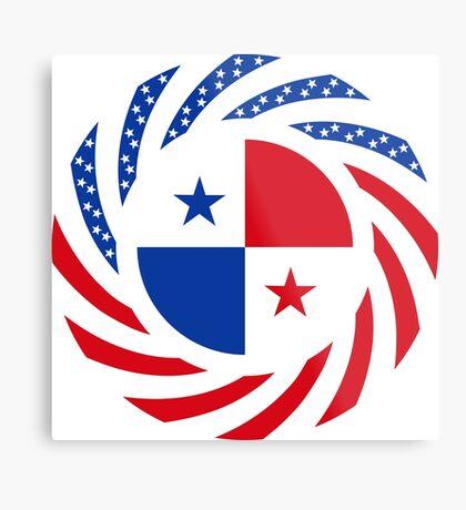 Panamanian American Multinational Patriot Flag Series Metal Print