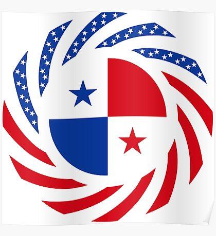 Panamanian American Multinational Patriot Flag Series Poster