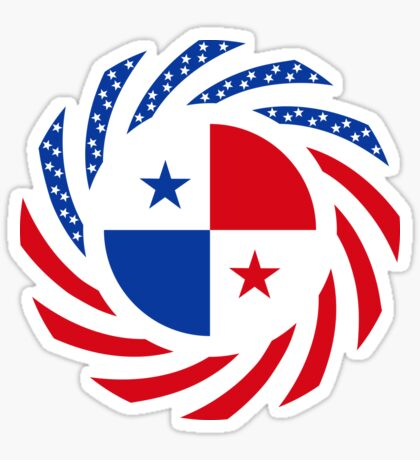 Panamanian American Multinational Patriot Flag Series Sticker