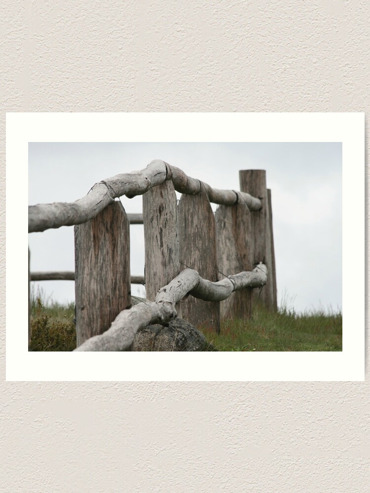Alternate view of Old fence Art Print