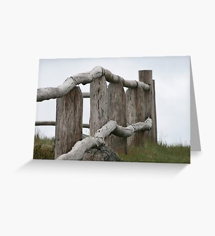 Old fence Greeting Card