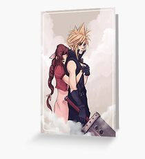 Cloud and Aerith Greeting Card