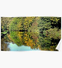 Sankey Valley Canal in Summer Poster