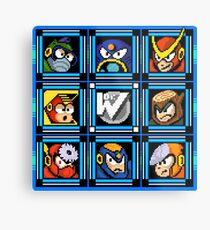 Megaman 2 Boss Select Metal Print