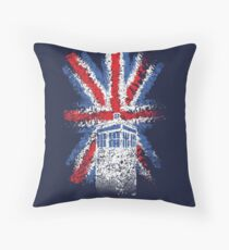 British Time Travellers Throw Pillow