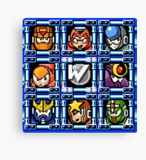 Megaman 5 boss select Canvas Print