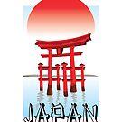 Japan, Torii-Tor im Sonnenuntergang von BokeeLee