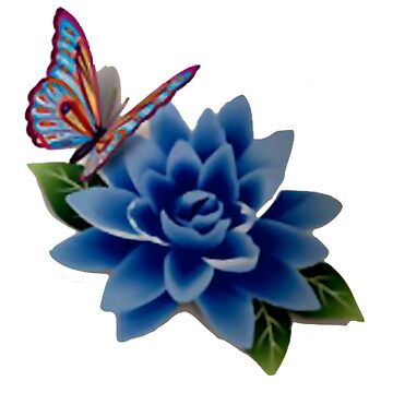 Butterfly On A Blue Flower by VictorIos