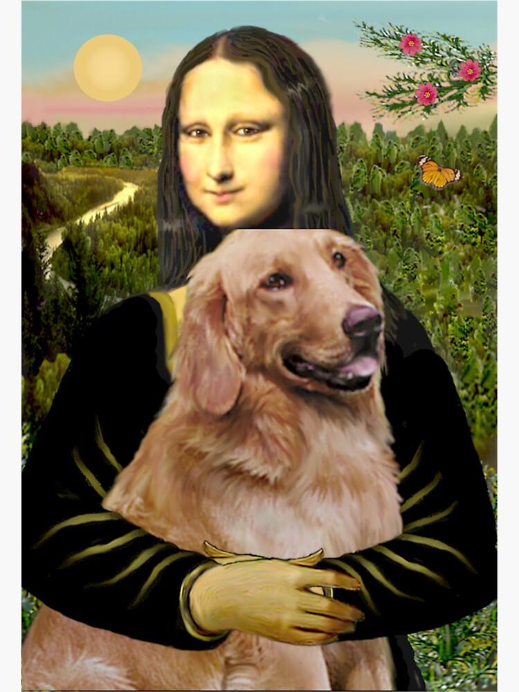 Mona Lisa and her Golden Retriever #1 by JeanBFitzgerald