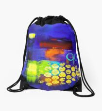 Trio - Blue Drawstring Bag