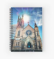 Modern Past Sky Spiral Notebook