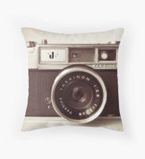 Camera Retro  Throw Pillow