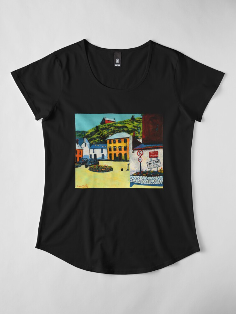 Alternate view of Passage East (County Waterford, Ireland) Premium Scoop T-Shirt