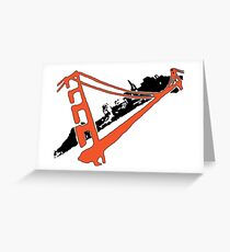San Francisco Giants Stencil Team Colors Greeting Card