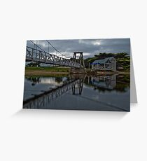 Swing Bridge Reflections Greeting Card