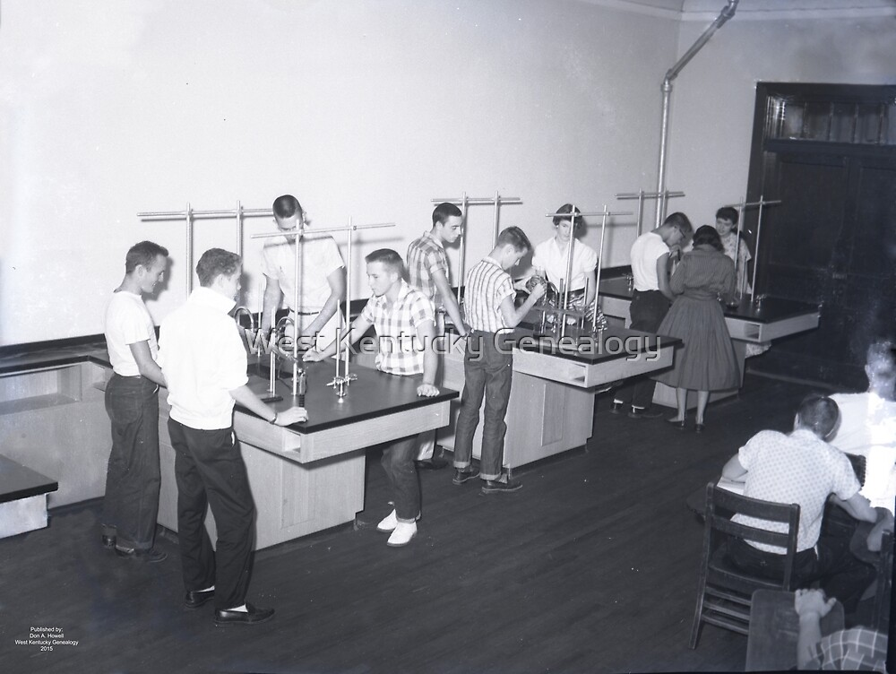 1950's Benton High School Chemistry Class by Don A. Howell