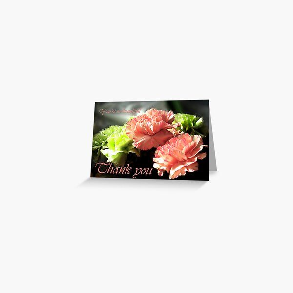 Carnations Thank You Card Greeting Card