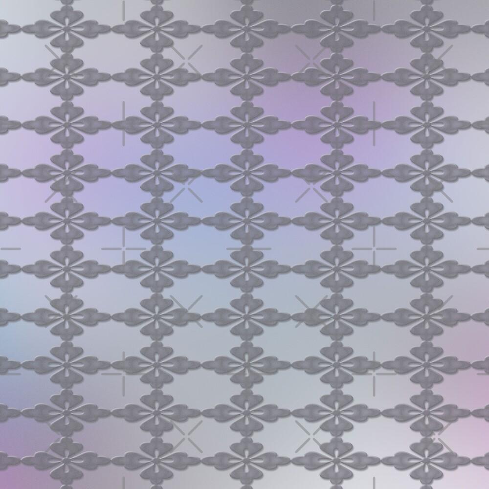 Soft Ornate Grid Pattern by charmarose