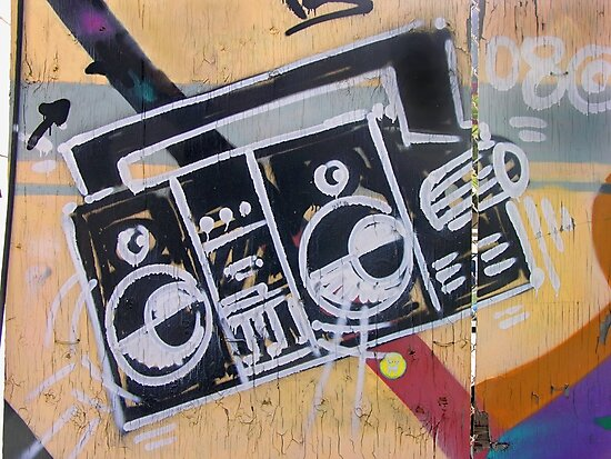 Boombox (graffiti) by Steve Campbell