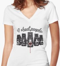 I Shoot People! Women's Fitted V-Neck T-Shirt